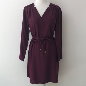 Amanda Uprichard Silk Burgundy Tunic Dress